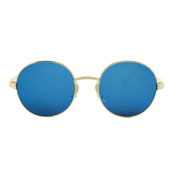 عینک آفتابی ویلی بولو مدل Round Golden Blue Collection