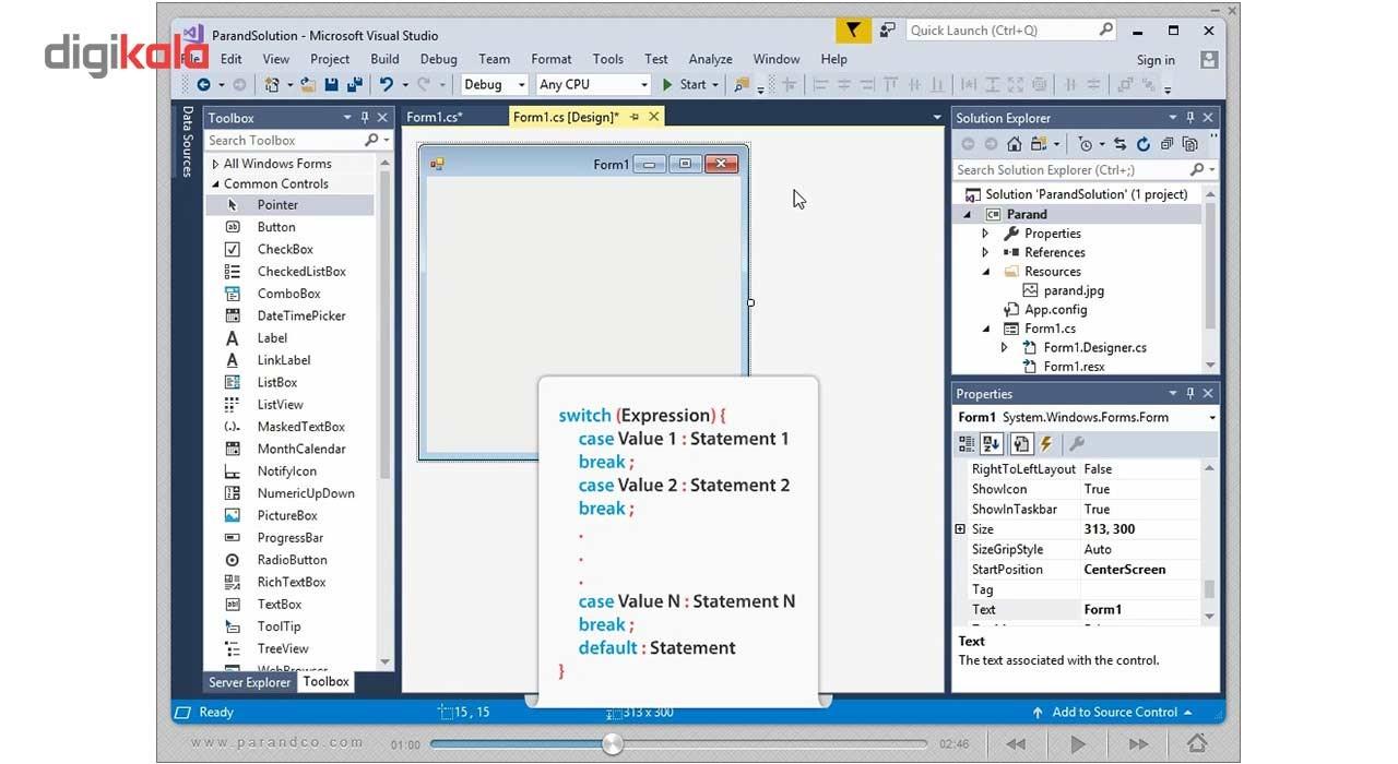خرید اینترنتی                     نرم افزار آموزش #Visual C سطح مقدماتی تا پیشرفتهشرکت پرند