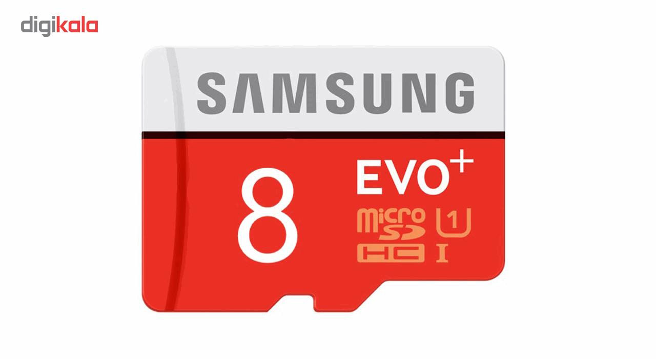 کارت حافظه microSDHC  مدل Evo Plus کلاس 10 استاندارد UHS-I U1 سرعت 80MBps همراه با آداپتور SD ظرفیت 8 گیگابایت main 1 2