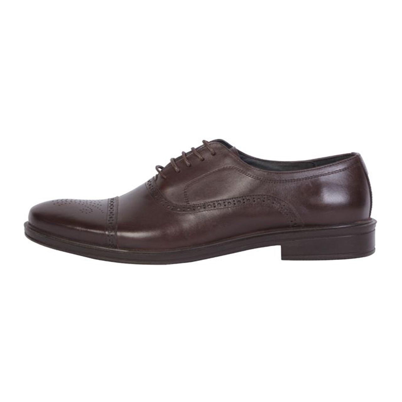 کفش چرم مردانه  مهاجر مدل M23GH