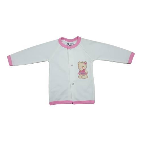 پیراهن دکمه دار آستین بلند نوزادی برند پرنسس مدل PINK-12