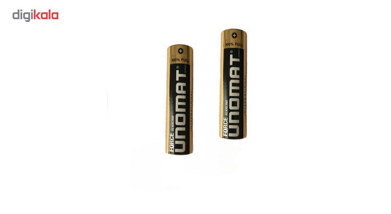 باتری قلمی یونومت مدل Force Alkaline بسته 2 عددی main 1 2
