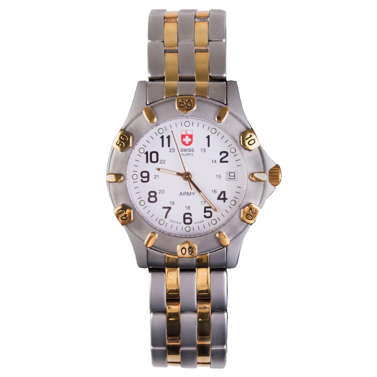 ساعت مچی عقربه ای سوئیس آرمی 1271Bi color 54