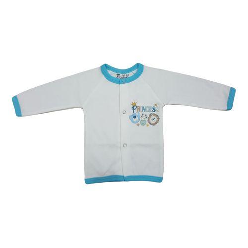 پیراهن دکمه دار آستین بلند نوزادی برند پرنسس مدل BLUE-12