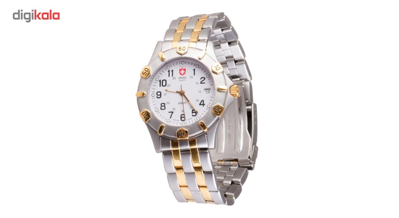 ساعت مچی عقربه ای سوئیس آرمی 1271Bi color