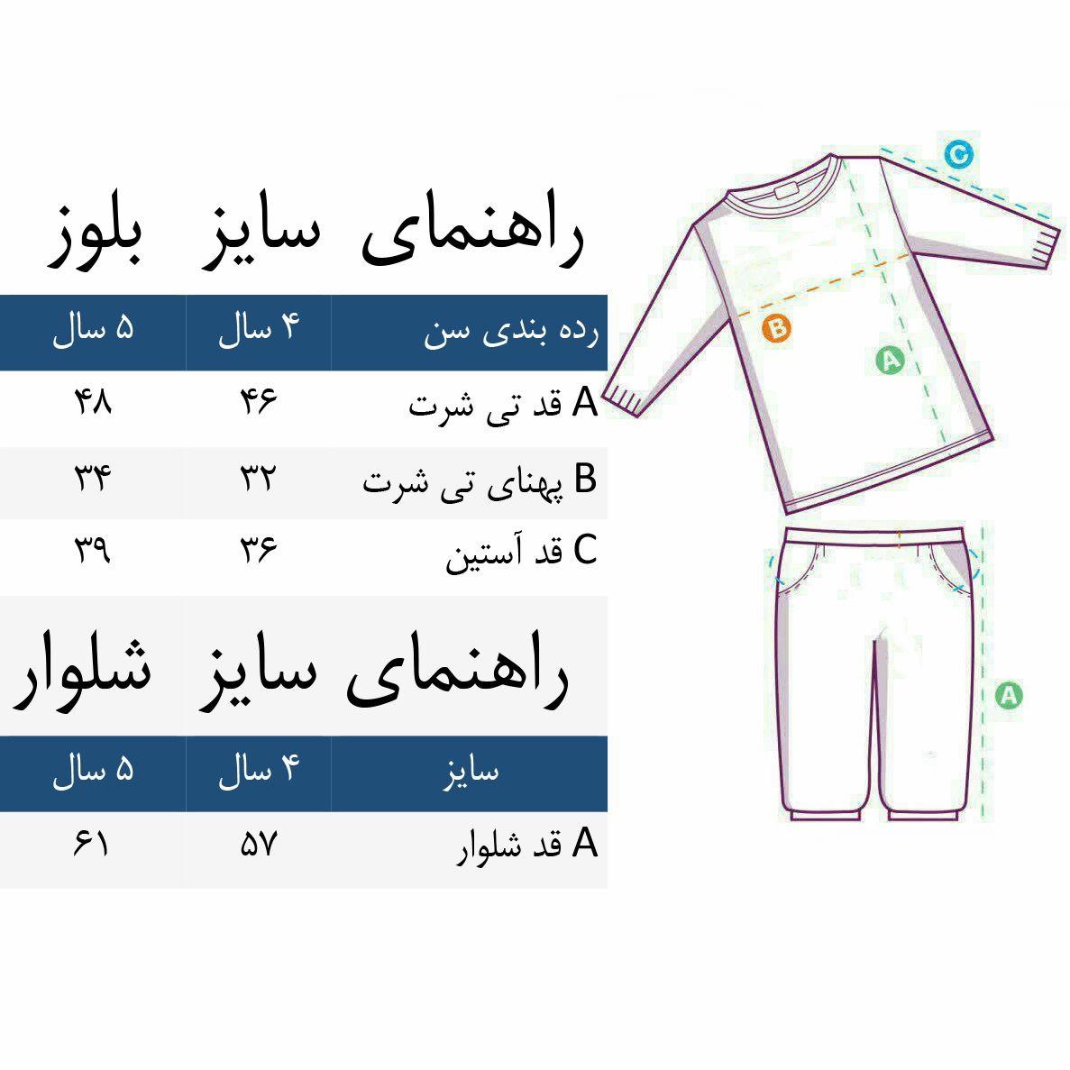 ست تی شرت و شلوار دخترانه طرح پروانه کد 3072 رنگ سفید -  - 6