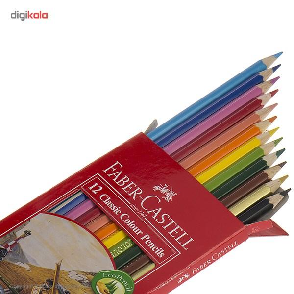 مداد رنگی 12 رنگ فابر-کاستل مدل Classic main 1 2