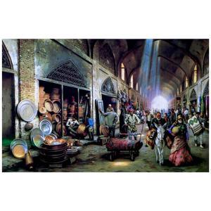 پازل 1000 تکه ترنم طرح بازار سنتی
