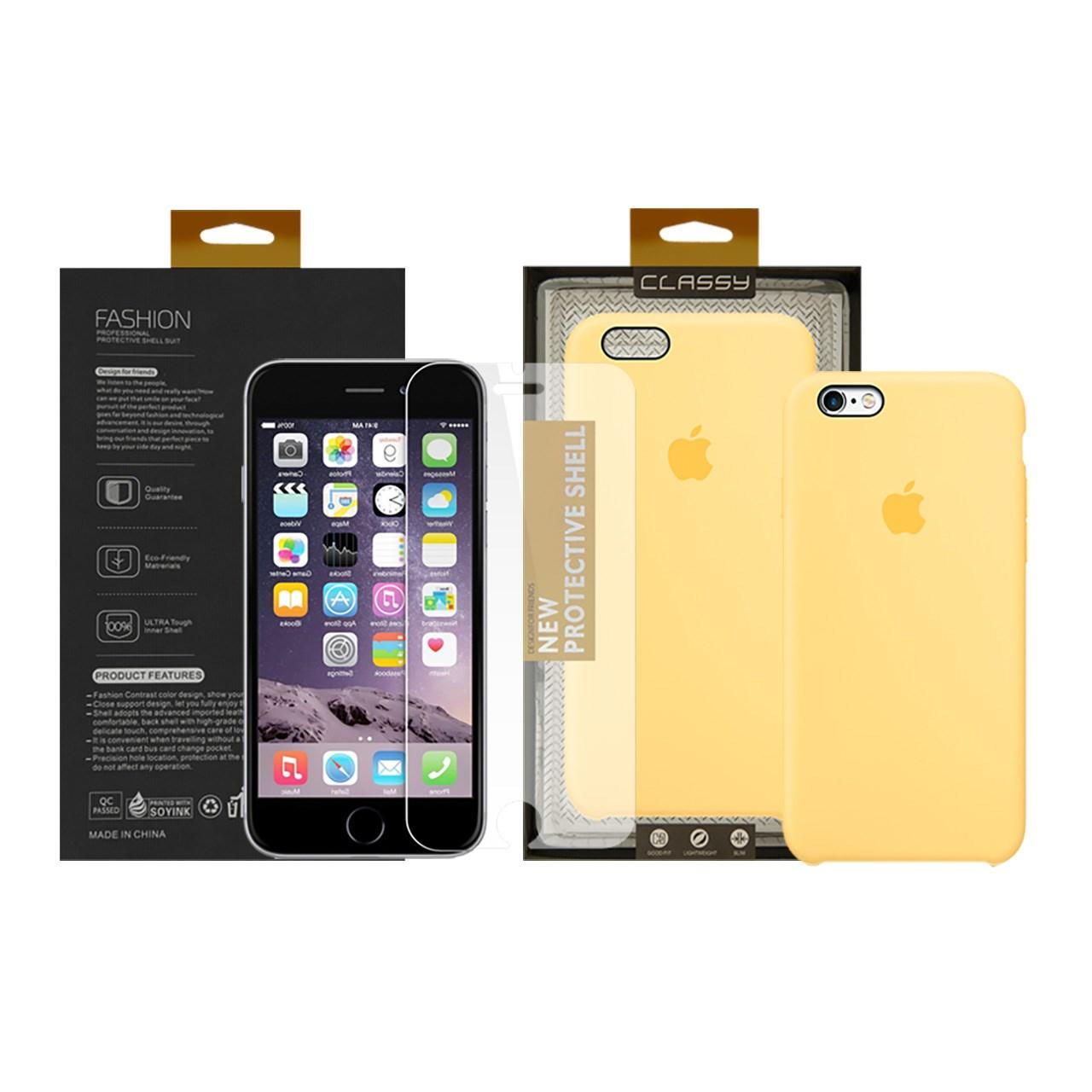 کاور سومگ مدل سیلیکونی مناسب برای گوشی موبایل اپل آیفون6s Plus / 6 Plus   به همراه محافظ صفحه نمایش