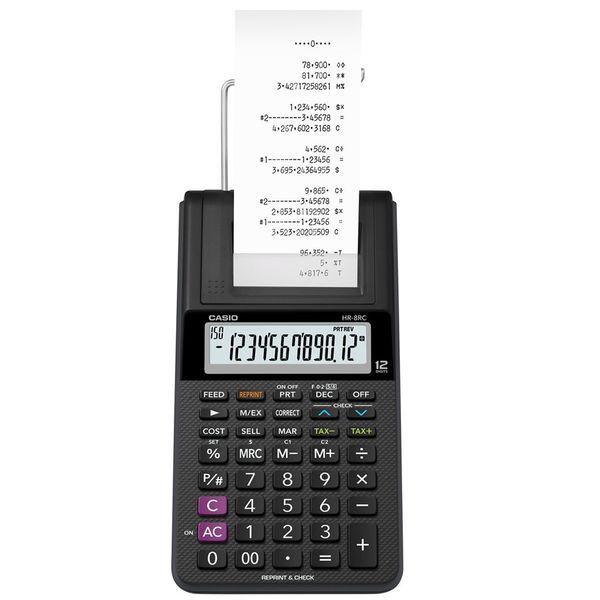 ماشین حساب کاسیو مدل HR-8RC-BK | Casio HR-8RC-BK Calculator