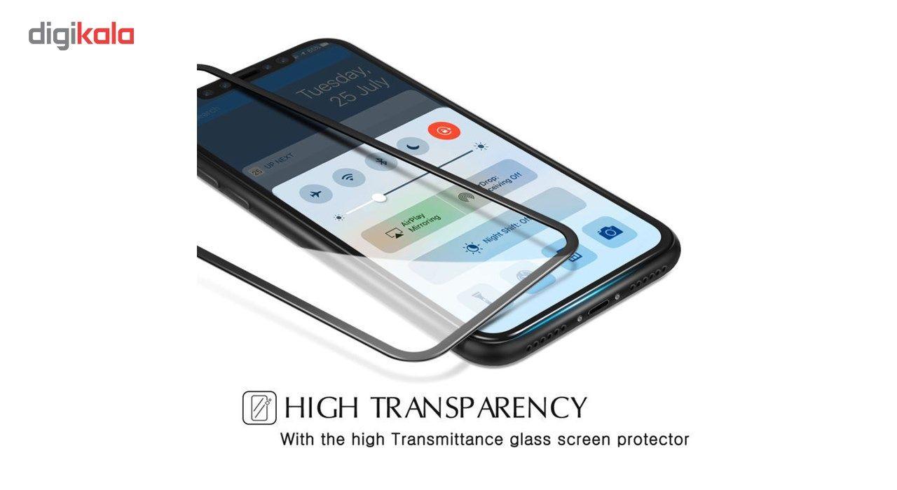 محافظ صفحه نمایش تمام چسب شیشه ای لاین مدل 5D مناسب برای گوشی اپل آیفون X main 1 2