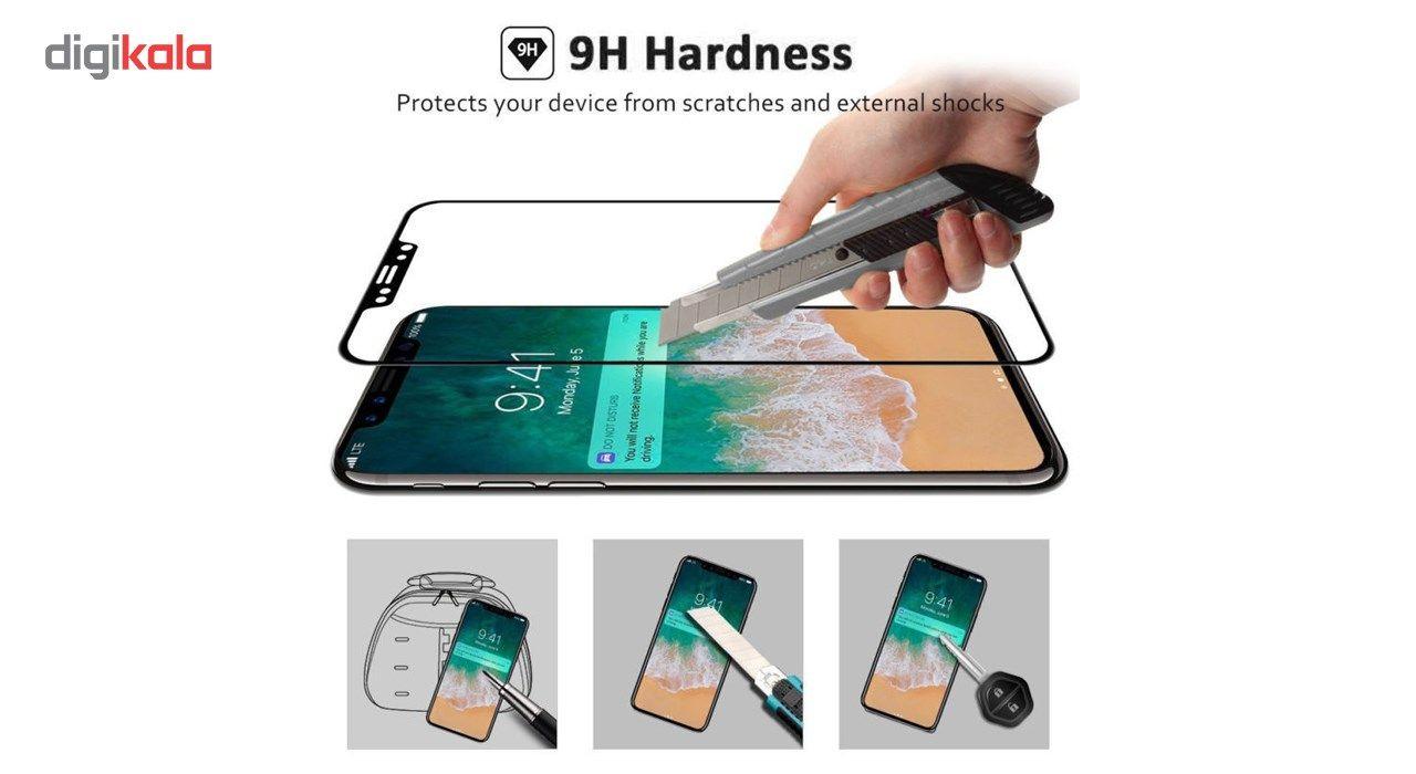 محافظ صفحه نمایش تمام چسب شیشه ای لاین مدل 5D مناسب برای گوشی اپل آیفون X main 1 5