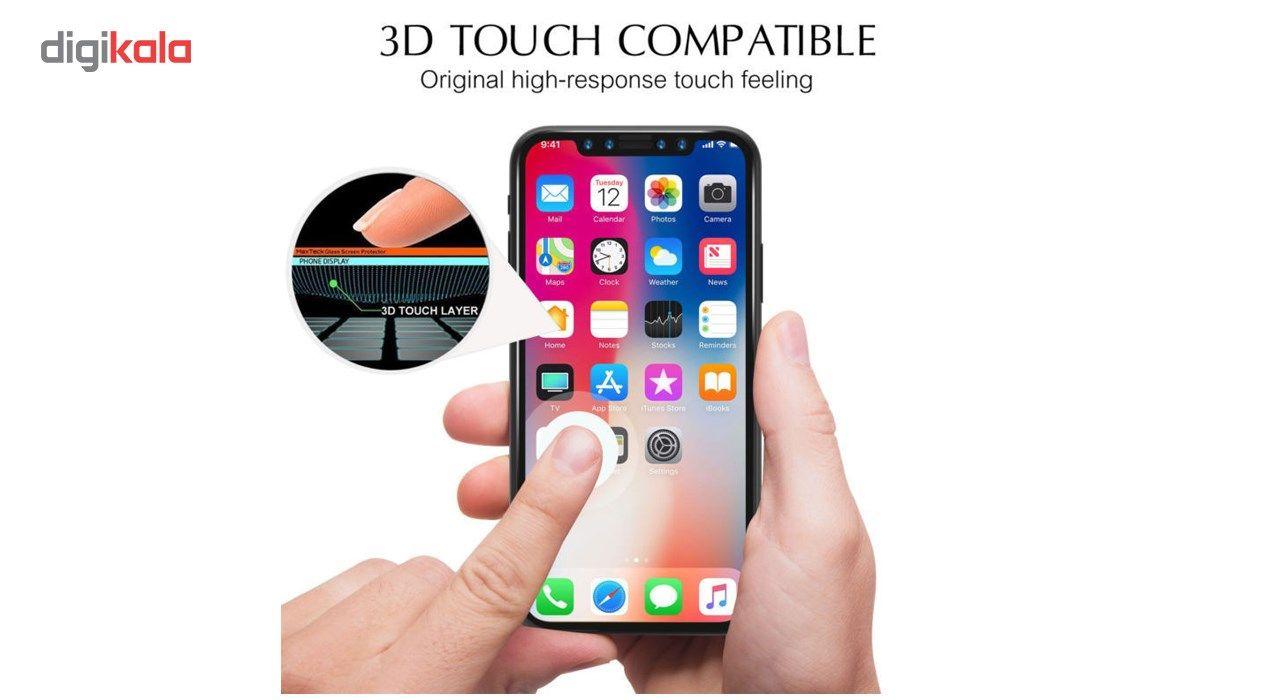 محافظ صفحه نمایش تمام چسب شیشه ای لاین مدل 5D مناسب برای گوشی اپل آیفون X main 1 7