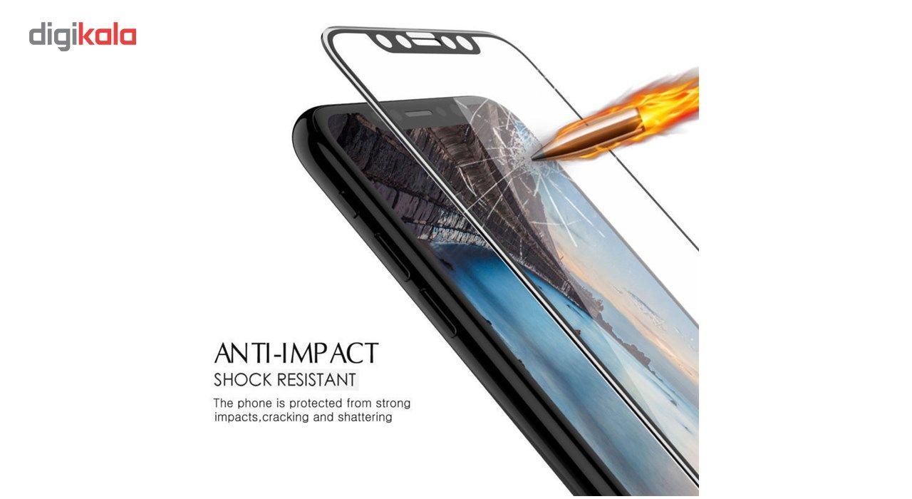 محافظ صفحه نمایش تمام چسب شیشه ای لاین مدل 5D مناسب برای گوشی اپل آیفون X main 1 8