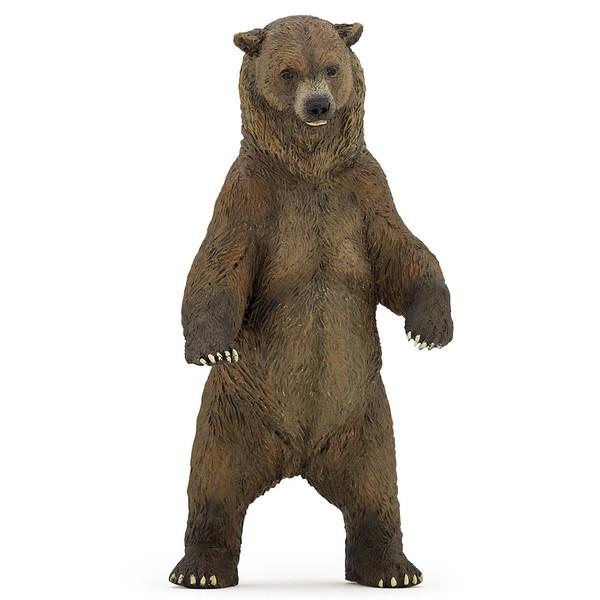 فیگور پاپو مدل حیوان وحشی خرس گریزلی