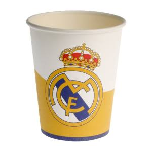 لیوان یکبار مصرف ستاره رنگارنگ مدل رئال مادرید بسته 10 عددی