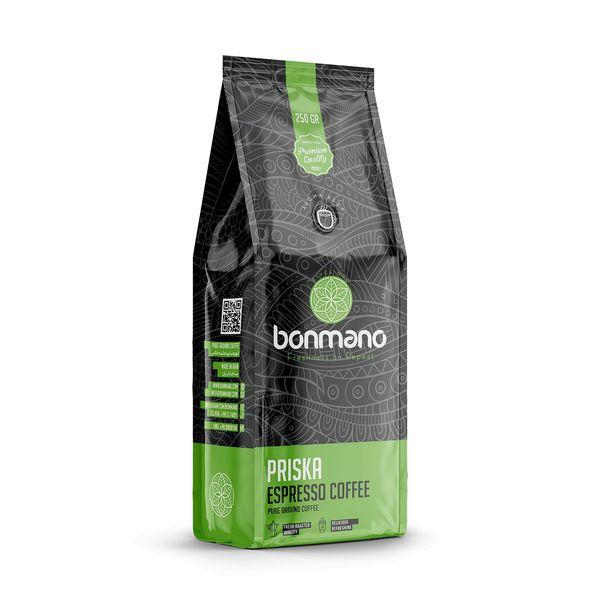 قهوه اسپرسو بن مانو مدل پریسکا 250 گرمی