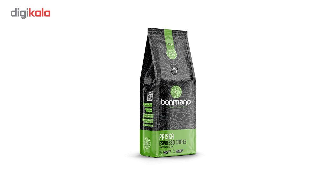 قهوه اسپرسو بن مانو مدل پریسکا 250 گرمی main 1 1