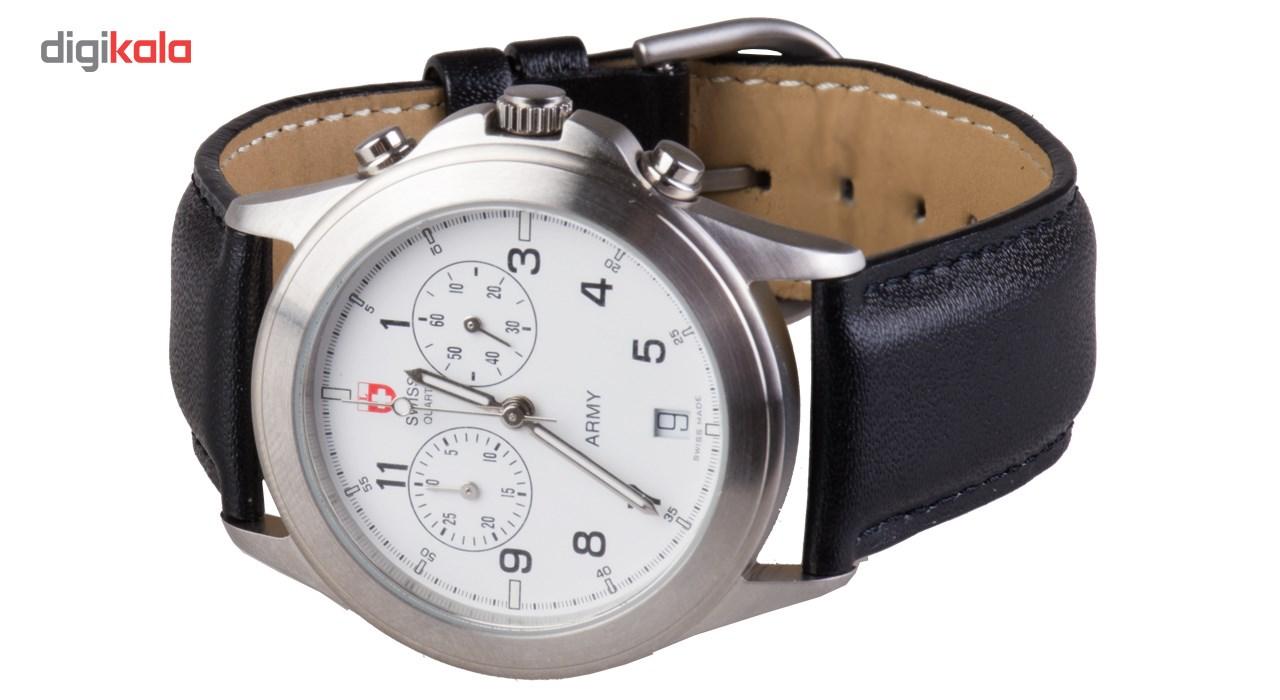 خرید ساعت مچی عقربه ای کرونوگراف سوئیس آرمی مدل 12202C | ساعت مچی