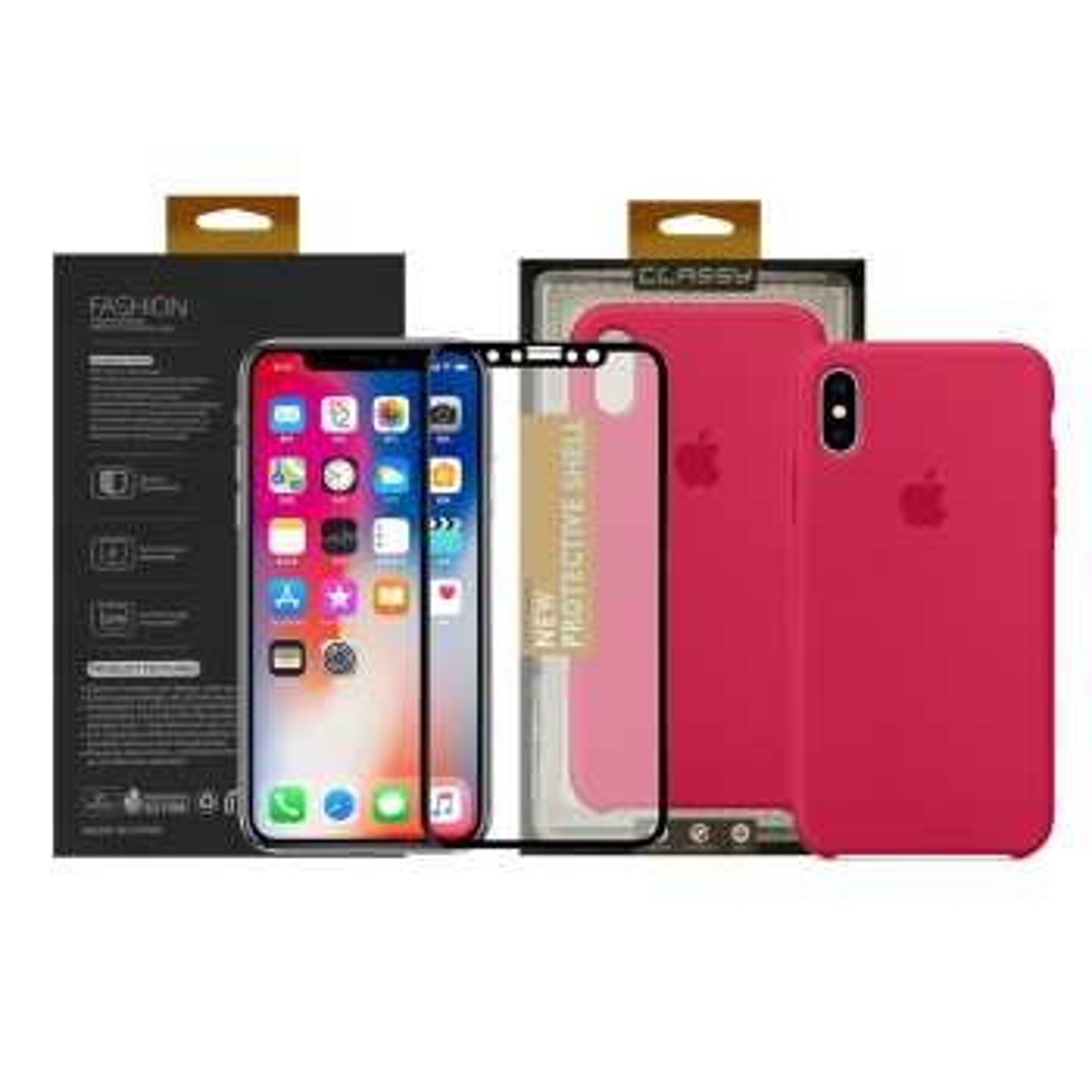 کاور سومگ مدل سیلیکونی مناسب برای گوشی موبایل اپل آیفون Xs  به همراه محافظ صفحه نمایش