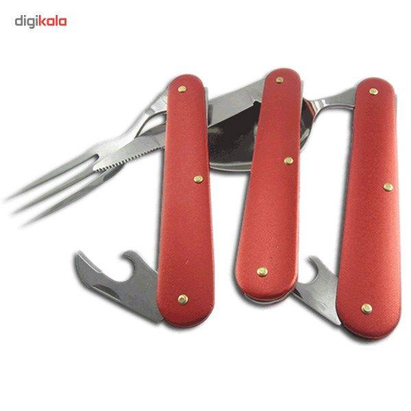 ست قاشق، چنگال و چاقوی سفری main 1 2
