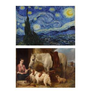 تابلو 2  تکه گالری هنری پیکاسو  طرح معروف ترین نقاشی های جهان کد PT138