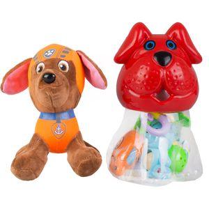 ست جغجغه و عروسک سگ نگهبان مدل 002