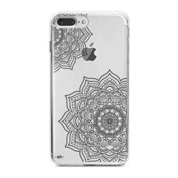 کاور  ژله ای مدل Black flower mandalaمناسب برای گوشی موبایل آیفون 7 پلاس و 8 پلاس