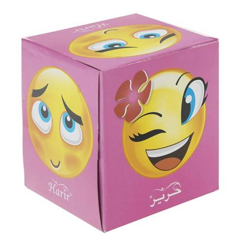 دستمال کاغذی 100 برگ حریر مدل Happy Face