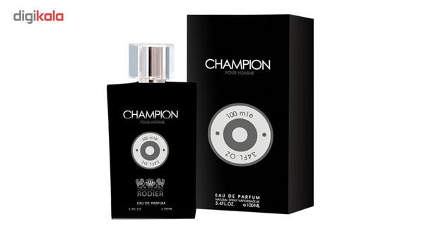 ادو پرفیوم مردانه رودیر  مدل Champion حجم 100 میلی لیتر