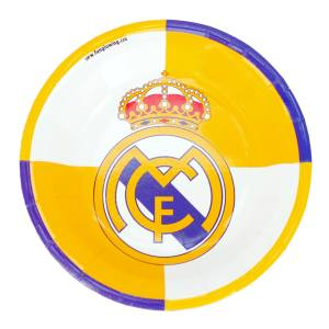 بشقاب یکبار مصرف ستاره رنگارنگ مدل  رئال مادرید بسته 10 عددی