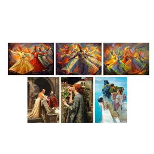 تابلو 6  تکه گالری هنری پیکاسو  طرح پیشنهادی کد 61134