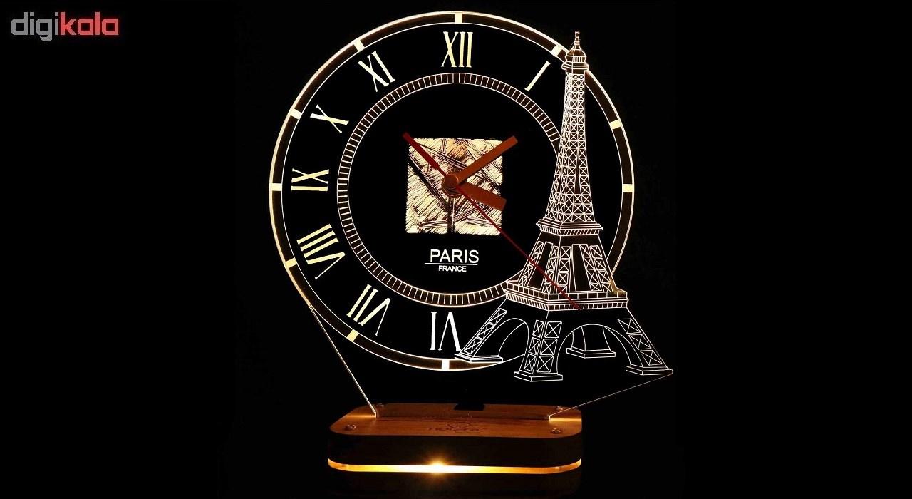 چراغ خواب طرح ساعت نورا مدل برج ایفل