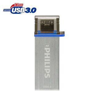 فلش مموری USB 3.0 و OTG فیلیپس مدل مونو ادیشن FM16DA132B/97 ظرفیت 16 گیگابایت