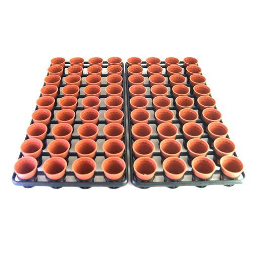 ست گلدان پلاستیکی جی تی تی مجموعه 72 عددی