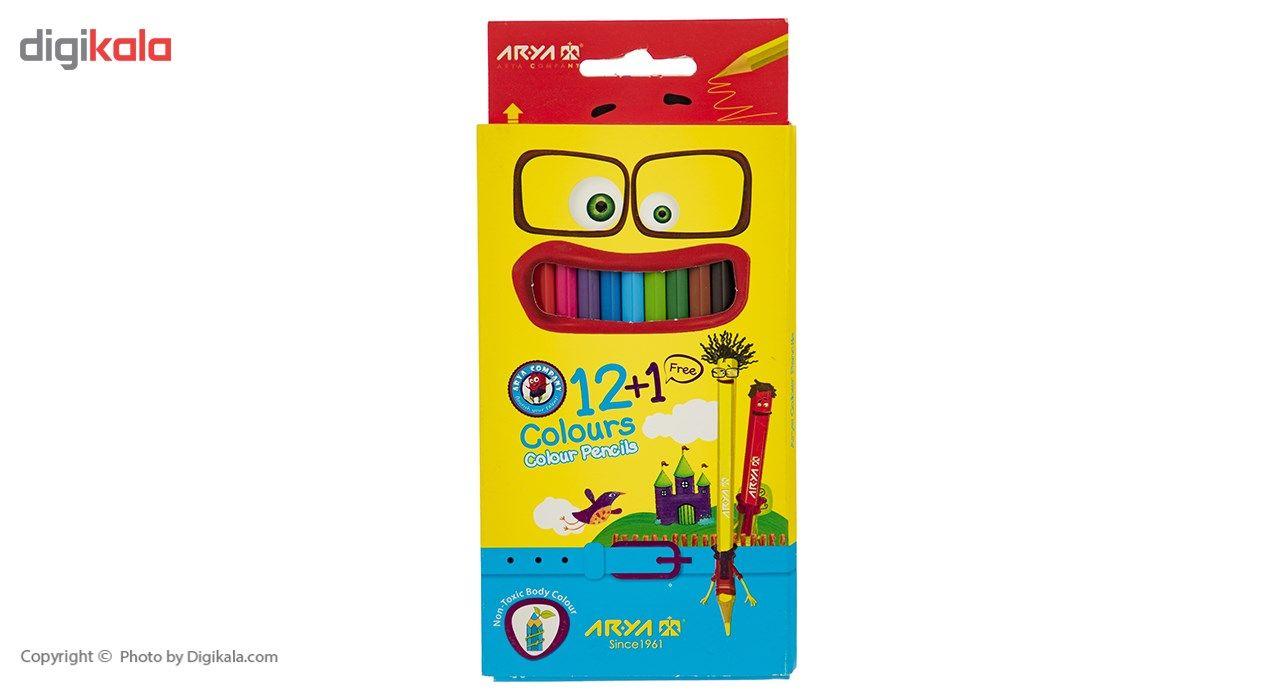 مداد رنگی 12 رنگ آریا مدل 3016 main 1 1