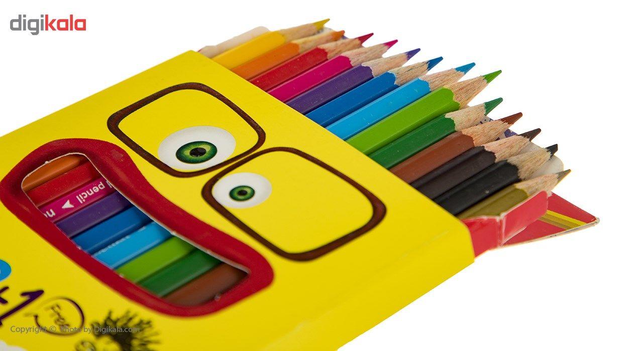 مداد رنگی 12 رنگ آریا مدل 3016 main 1 2