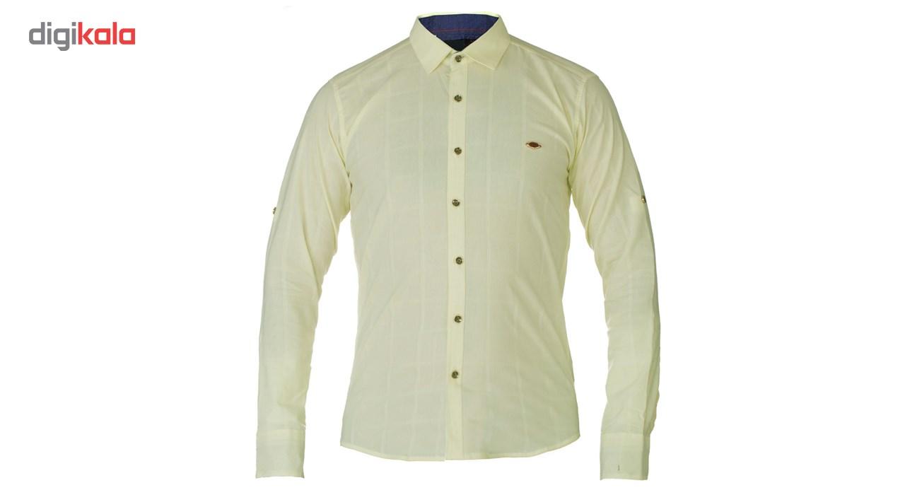 پیراهن آستین بلند مردانه پویان کد 7045