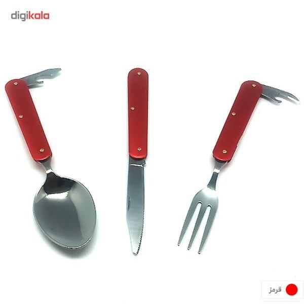 ست قاشق، چنگال و چاقوی سفری main 1 7