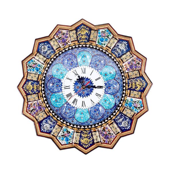 ساعت دیواری خاتم کاری طهران گوهر مدل TG12216