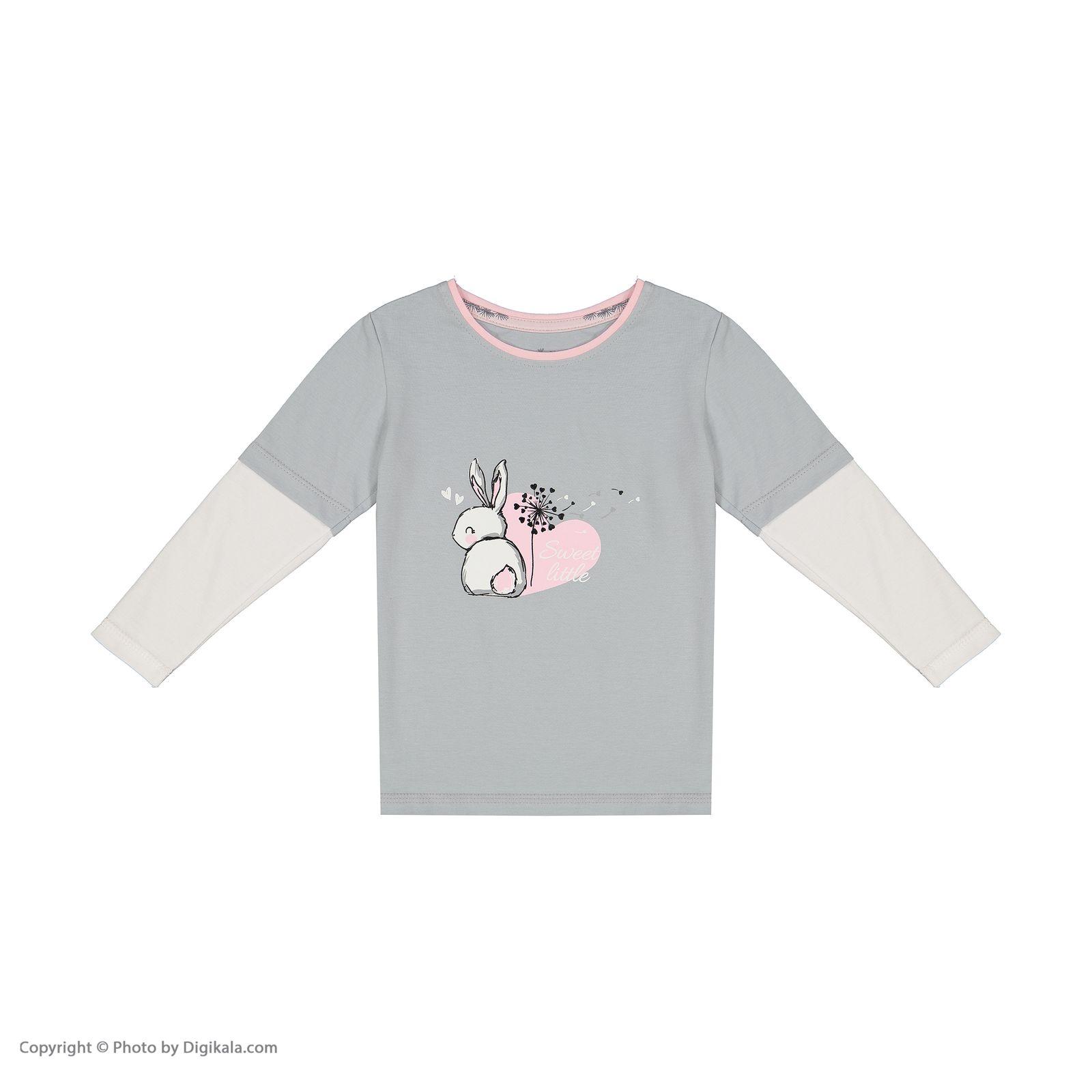 ست تی شرت و شلوار دخترانه ناربن مدل 1521328-93 -  - 7