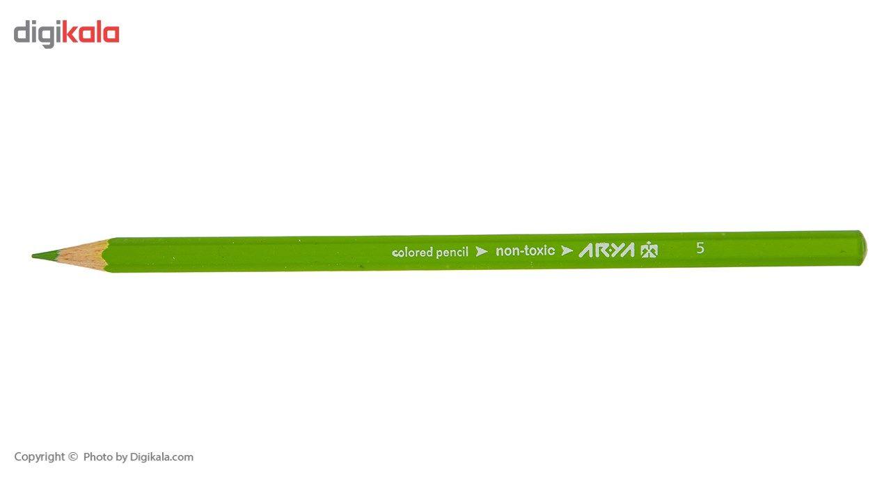 مداد رنگی 12 رنگ آریا مدل 3016 main 1 3