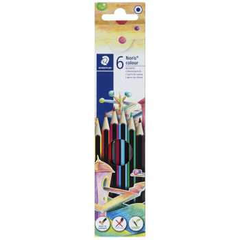 مداد رنگی 6 رنگ استدلر مدل Noris Colour 185C6