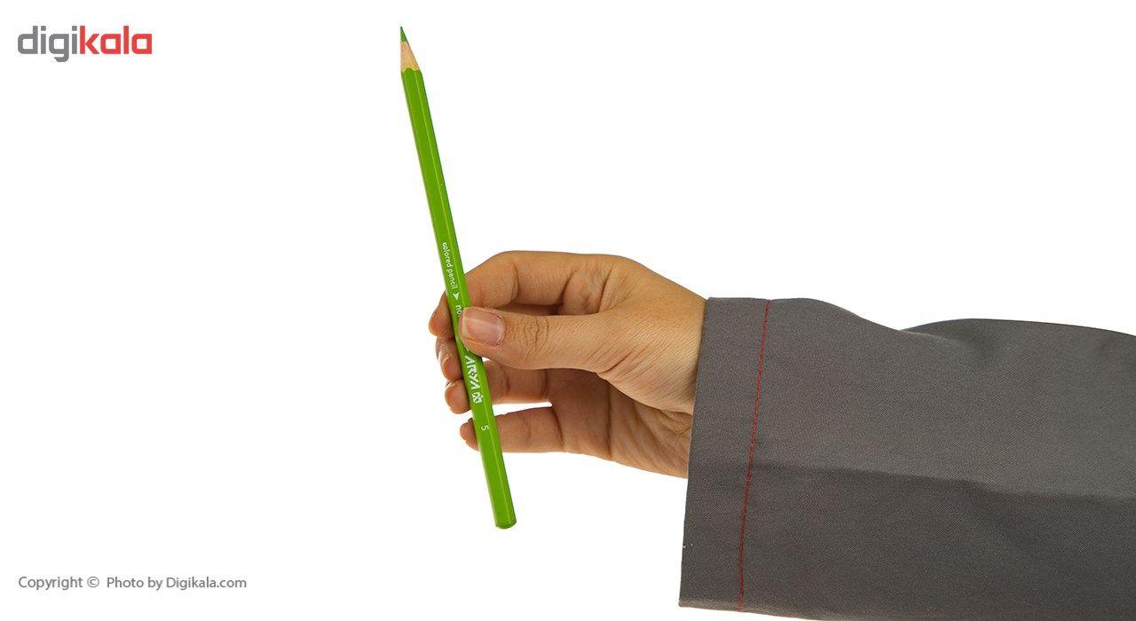 مداد رنگی 12 رنگ آریا مدل 3016 main 1 5