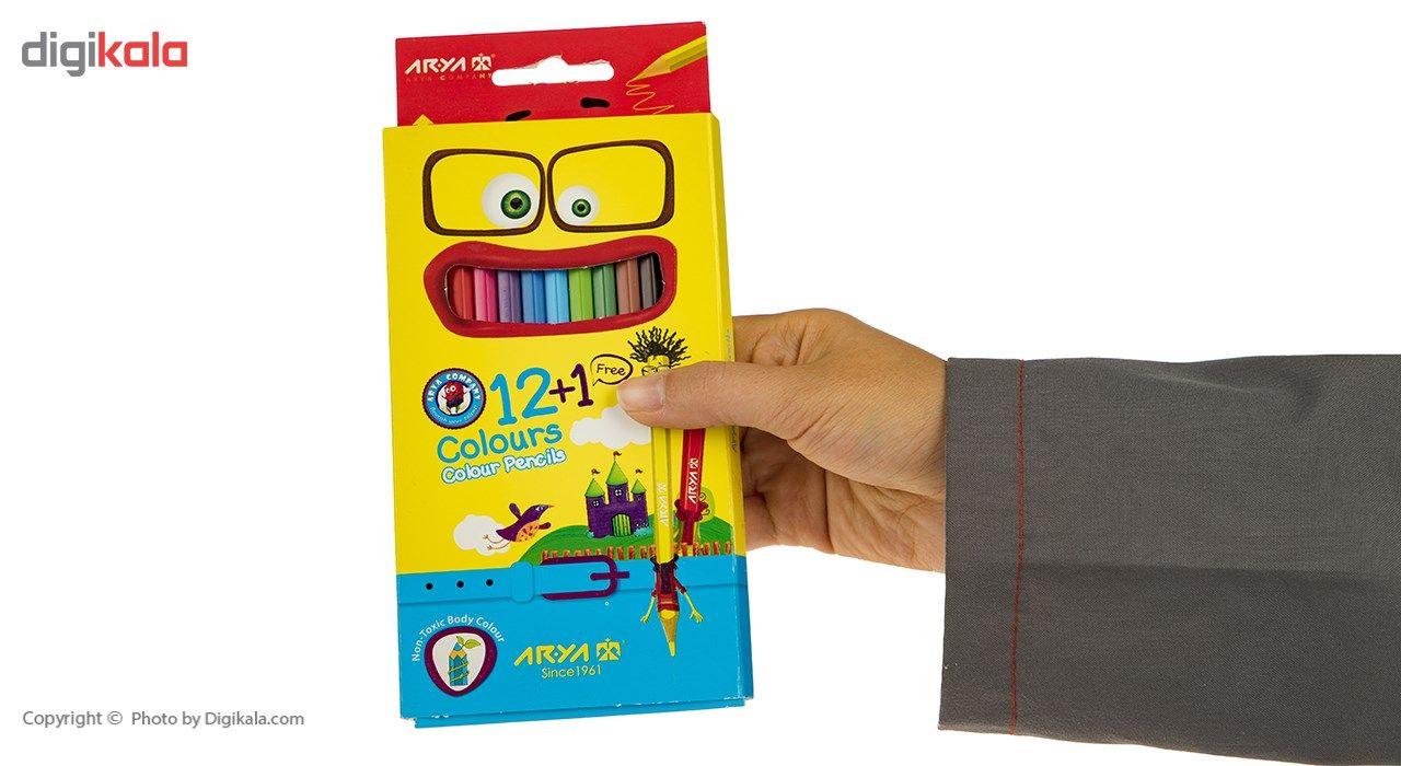 مداد رنگی 12 رنگ آریا مدل 3016 main 1 6