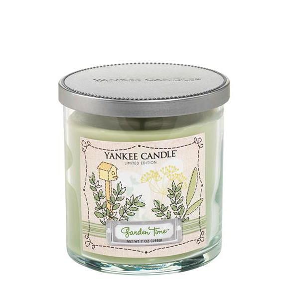 شمع بزرگ لیوانی دو فتیله ای ینکی کندل مدل باغ رویایی