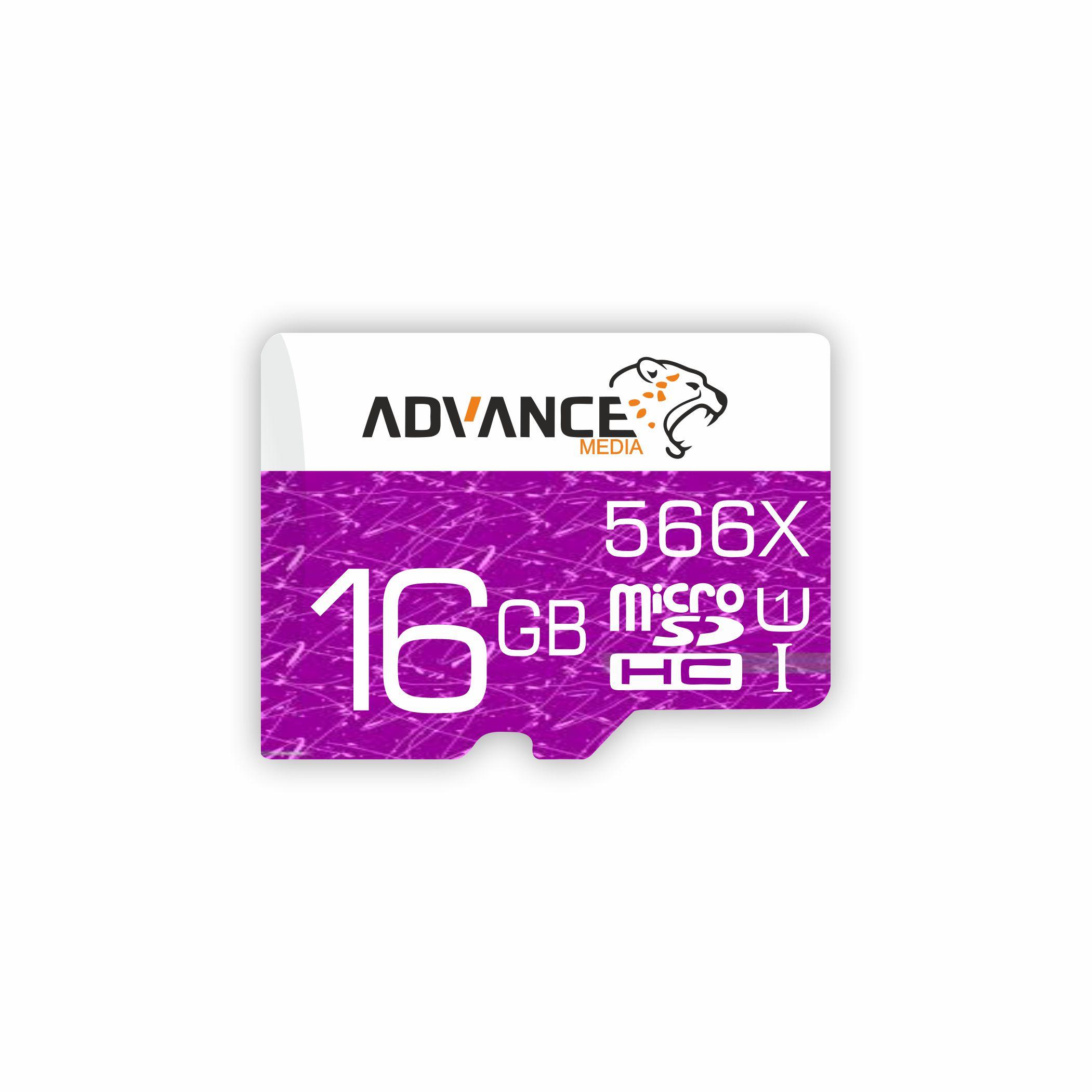 کارت حافظه microSDHC ادونس مدل 566X کلاس 10 استاندارد UHS-I U1 سرعت 85MBps ظرفیت 16گیگابایت