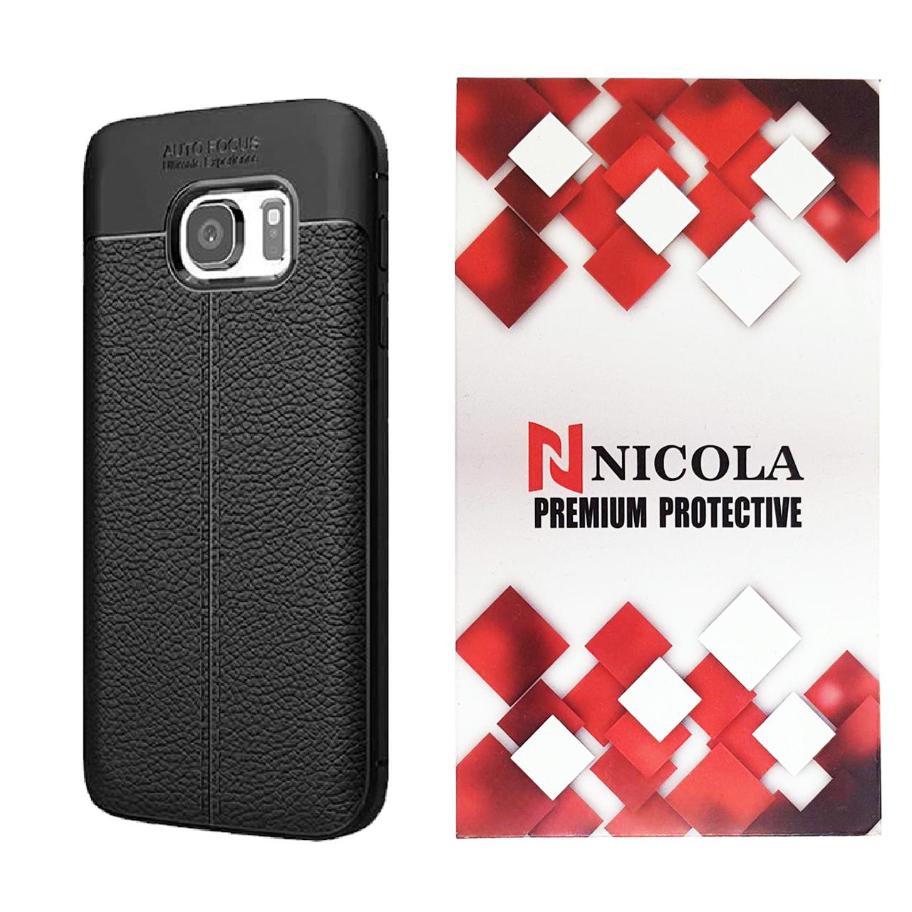 کاور نیکلا مدل N_ATO مناسب برای گوشی موبایل سامسونگ Galaxy S6 Edge Plus