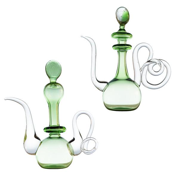 گلاب پاش شیشه ای طرح مینیاتوری مدل زویا کد 1054 مجموعه 2 عددی