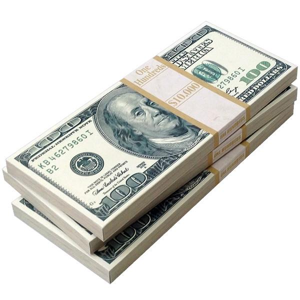 پاکت پول طرح دلار بسته 3 عددی